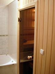 Финские стеклянные и глухие двери для саун и бань- 42 000 тенге стекл.